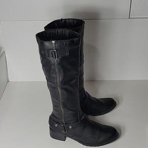 So Delta Black Tall Boots